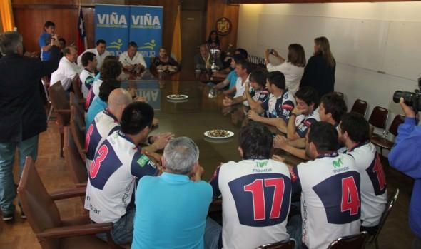 Municipalidad de Viña del Mar homenajeó a Old Mackayans, campeón de Chile de rugby