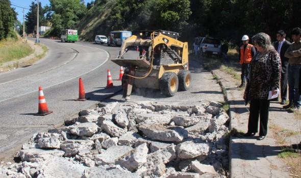 En Miraflores Alto continúa millonario programa de reparación de calles del Municipio de Viña del Mar