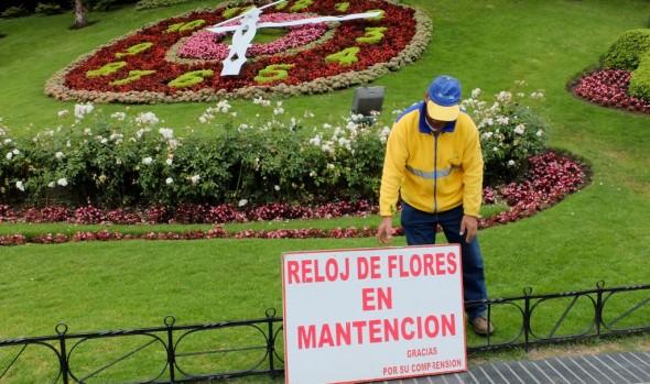 Reloj de Flores de la Municipalidad de Viña del Mar se encuentra en proceso de calibración y evaluación de daños