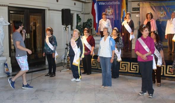 Diversas actividades realizan candidatas a Reina del Adulto Mayor, Viña del Mar 2014