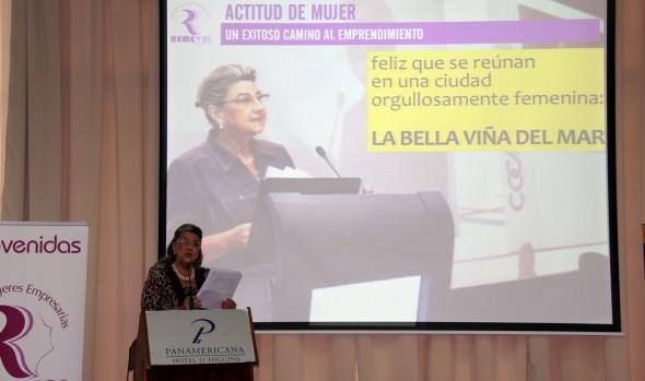 Seminario de mujeres emprendedoras de la región fue inaugurado por alcaldesa Virginia Reginato