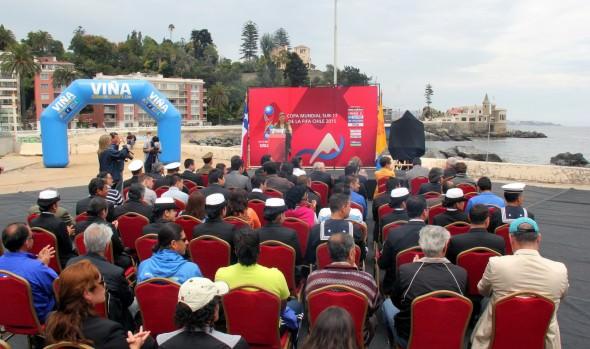 Logo oficial de Viña del Mar para  Mundial sub-17 fue presentado por alcaldesa Virginia Reginato