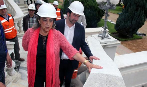 Trabajos de restauración del Palacio Rioja fueron inspeccionados por alcaldesa Virginia Reginato
