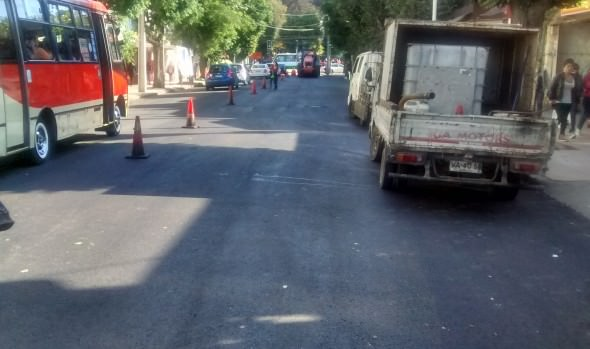 En tiempo récord municipio de Viña del Mar realizó reparación de tramo de calle Quinta