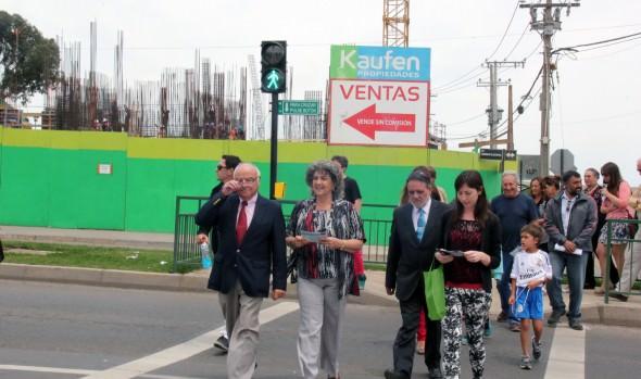Dos nuevos semáforos para transitada arteria de Reñaca fueron puestos en funcionamiento por alcaldesa Virginia Reginato