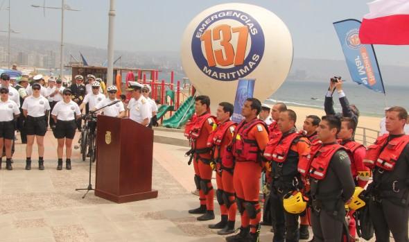 En Viña del Mar, autoridades dan inicio  la Temporada de playas 2014-15