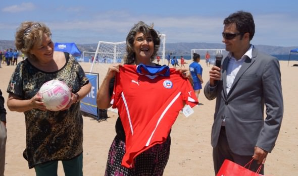 Playa del Deporte de Viña del Mar fue inaugurada por alcaldesa Virginia Reginato