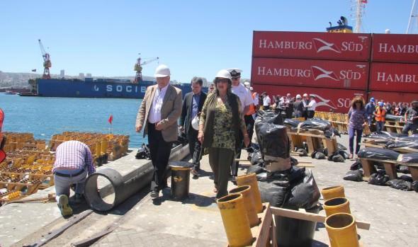 Instalación de bombas en plataformas de lanzamiento fueron inspeccionadas por alcaldesa Virginia Reginato