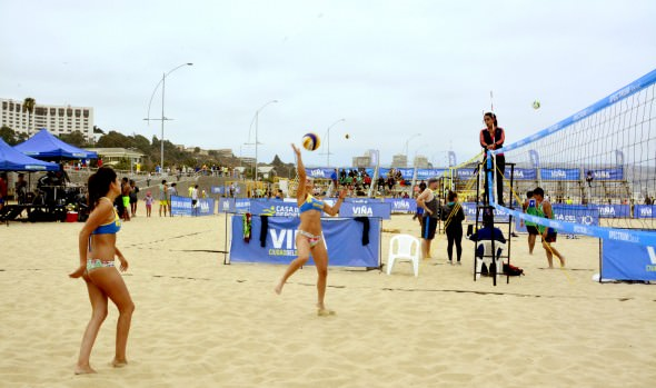 Playa del Deporte de Viña del Mar fue escenario de la segunda fecha del circuito del Beach voley