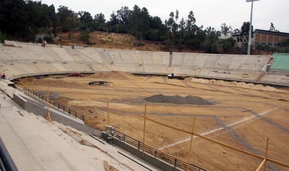 Obras de Estadio Sausalito avanzan de acuerdo a lo establecido informó alcaldesa Virginia Reginato