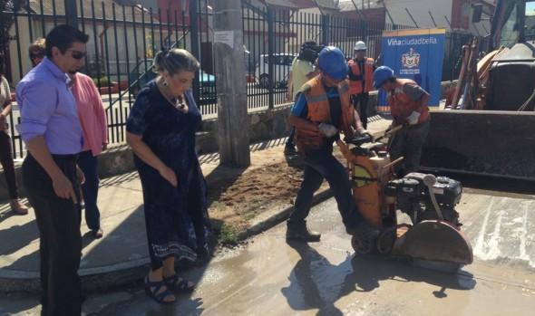 Municipalidad de Viña del Mar reparó más de mil metros cuadrados de calzada en Santa Inés