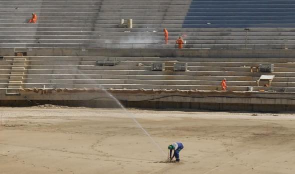 En pleno proceso de terminación se encuentra cancha de nuevo estadio Sausalito