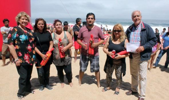 Ganadores del 32° Concurso de Castillos de Arena fueron premiados por alcaldesa Virginia Reginato