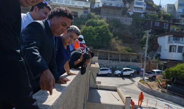 Avance en obras de colector Las Golondrinas fueron valoradas por alcaldesa Virginia Reginato