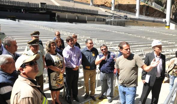 Ultima inspección a  medidas de seguridad en la Quinta Vergara encabezó alcaldesa Virginia Reginato