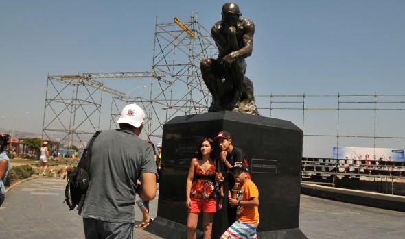 Gran acogida por parte de la comunidad y turistas ha tenido la escultura