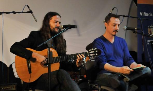 Pedro Aznar y Nano Stern brindaron clínica musical a jóvenes de Viña del Mar