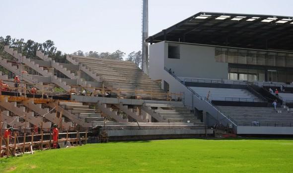 Municipalidad de Viña del Mar informa que estadio Sausalito presenta un 87% de avance en construcción de obras civiles