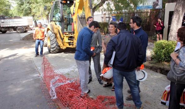 Obra de mejoramiento vial en calle 3 Oriente fue inspeccionada por alcaldesa Virginia Reginato