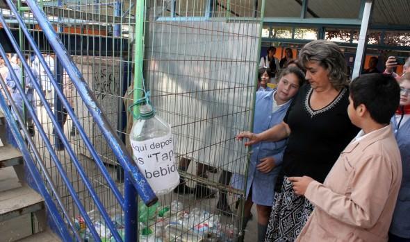 Programa de educación ambiental y reciclaje 2015 en escolares,  dio inicio alcaldesa Virginia Reginato