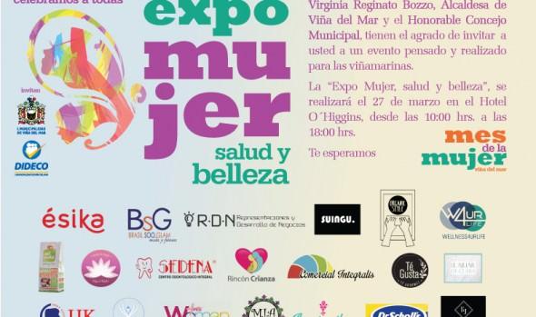 Municipio de Viña del Mar ofrecerá atractivos talleres y productos en Expo mujer salud y belleza