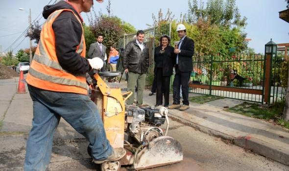 Obras de mitigación vial, previo a reposición de vía estructurante, dio inicio alcaldesa Virginia Reginato