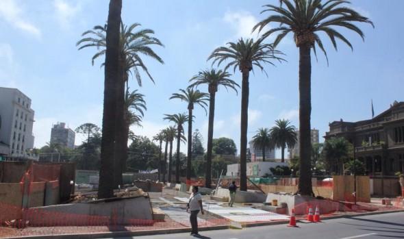 Avance de renovada plaza Sucre de Viña del Mar fue destacado por alcaldesa Virginia Reginato