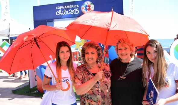 En Viña del Mar ya se comienza a vivir el ambiente de la Copa América Chile 2015