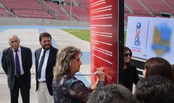 Alcaldes de ciudades sedes de Mundial sub 17 y alcaldesa Virginia Reginato  firman decálogo para trabajar coordinadamente