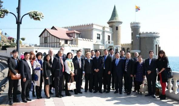 Importante delegación de funcionarios y empresarios de la ciudad de Wuxi, China, visita Viña del Mar