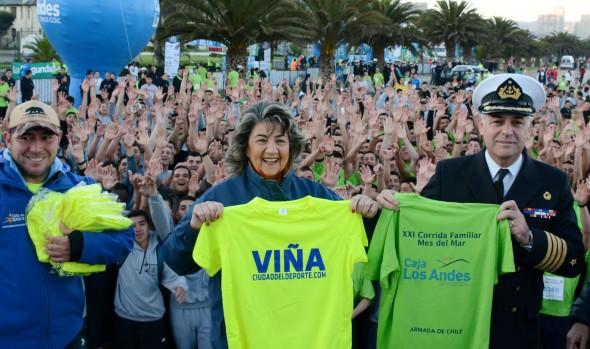 Con gran éxito se desarrolló XXI Corrida Familiar Mes del Mar, largada que fue dada por alcaldesa Virginia Reginato