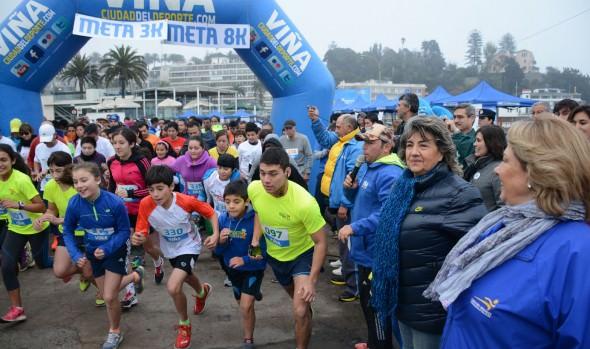 En verdadera fiesta del running se convirtió  primera fecha de las corridas familiares 2015 organizada por el municipio de Viña de Mar