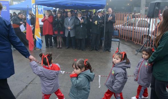 Escolares de Achupallas y Miraflores Alto realizaron desfile encabezado por alcaldesa  Virginia Reginato