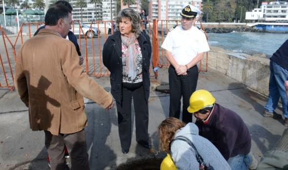 A tomar precauciones por marejadas en el borde costero de Viña del Mar realizó alcaldesa Virginia Reginato