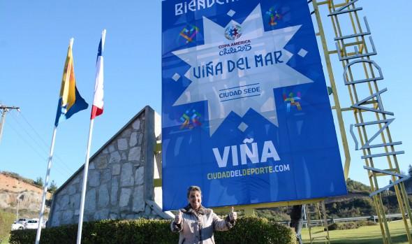 Viña del Mar se viste de Copa América y da la bienvenida con colorido cartel