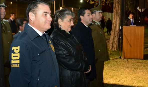 Rol de la PDI en la seguridad de la comuna destacó alcaldesa Virginia Reginato