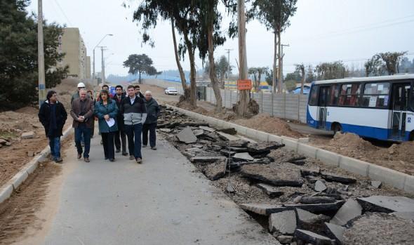 Municipio de Viña del Mar mejora acceso principal a Reñaca Alto