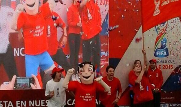 Mascota oficial del Mundial sub 17 Fifa Chile 2015 vistará a alcladesa Virginia Reginato