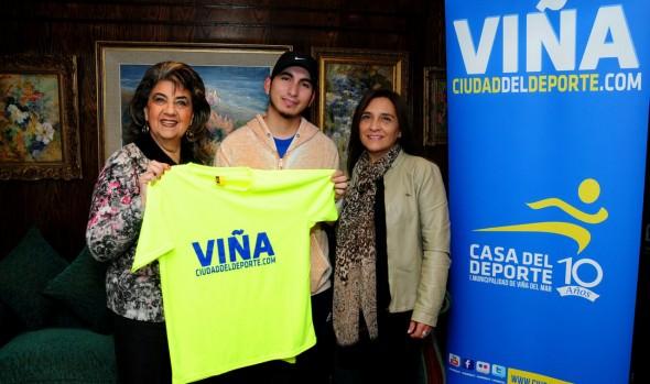 Joven deportista que participará en  Juegos Mundiales de olimpiadas especiales recibió apoyo de la Municipalidad de Viña del Mar