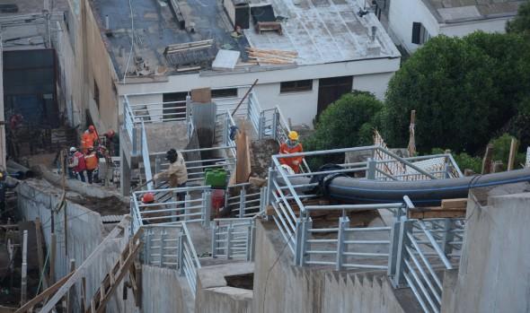 En etapa final de construcción se encuentra colector Las Golondrinas y escala Bellavista en Reñaca