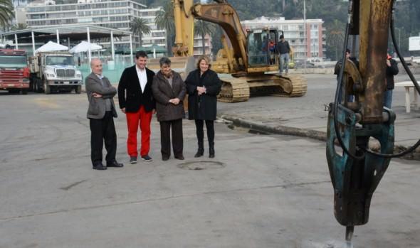 Remodelación de tradicional paseo de Av. Perú  en Viña del Mar dio inicio alcaldesa Virginia Reginato