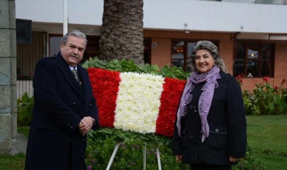 Ceremonia de aniversario de los 194 años de la Independencia del Perú en Viña del Mar , fue encabezada por la alcaldesa Virginia Reginato