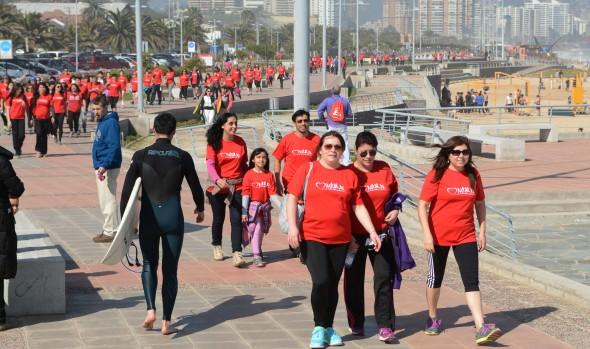 Con caminata y zumbatón, alcaldesa Virginia Reginato clausuró el mes del corazón en Viña del Mar