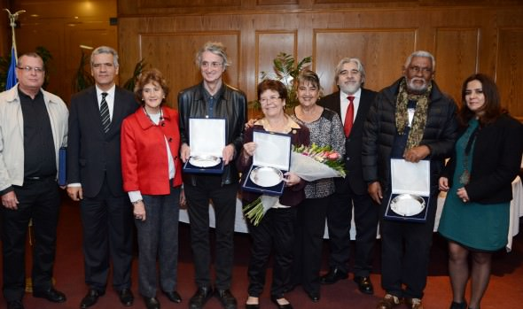 Destacados cineastas latinoamericanos fueron homenajeados por alcaldesa Virginia Reginato en el marco del FIC Viña 2015