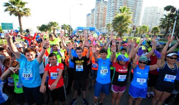 Aficionados al running  iniciaron celebración de Fiestas Patrias en Viña del Mar