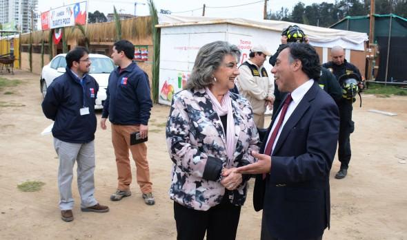 Ramadas del Sporting fueron inspeccionadas por la alcaldesa Virginia Reginato y autoridades reginales