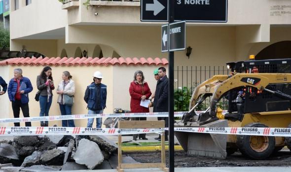 Municipio de Viña del Mar comenzó  reparación de  calle 3 Norte