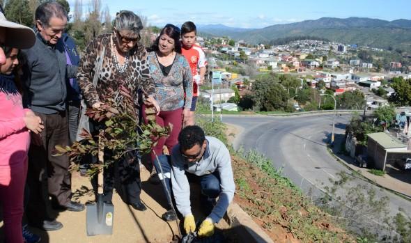 Nueva área verde entregó alcaldesa Virginia Reginato a  vecinos de Miraflores Alto