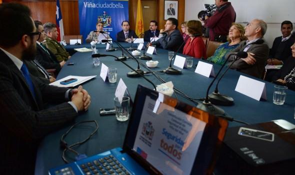 Encabezados por alcaldesa Virginia Reginato e Intendente (s)  se constituyó Consejo Comunal de Seguridad Pública