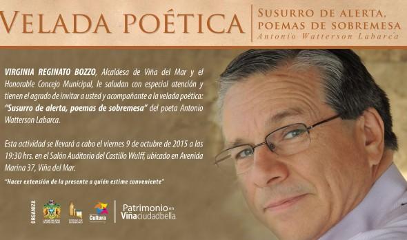Municipio de Viña del Mar invita a velada poética con escritor regional Antonio Watterson